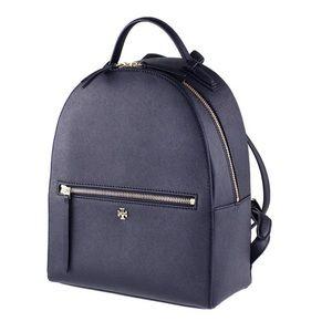 tory burch emerson tory backpack dark navy blue